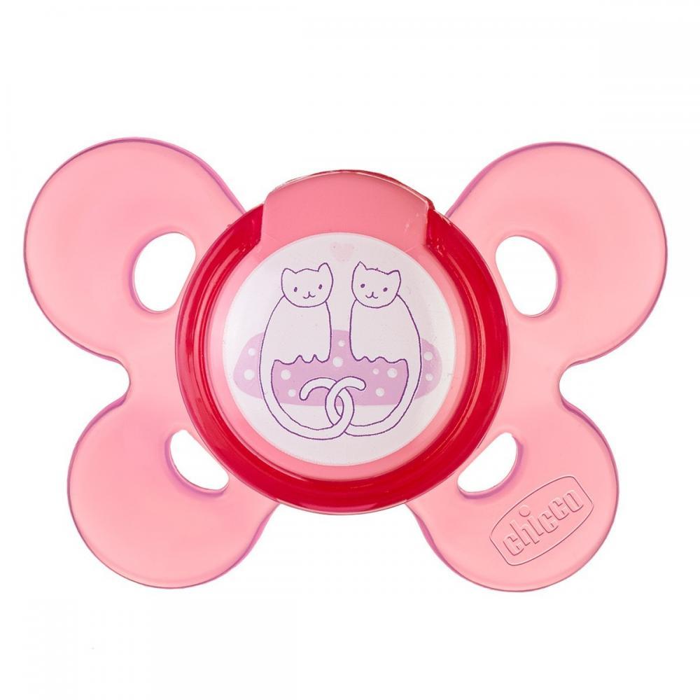 Suzeta Chicco silicon Physio Comfort forma ortodontica 6-12 luni roz imagine