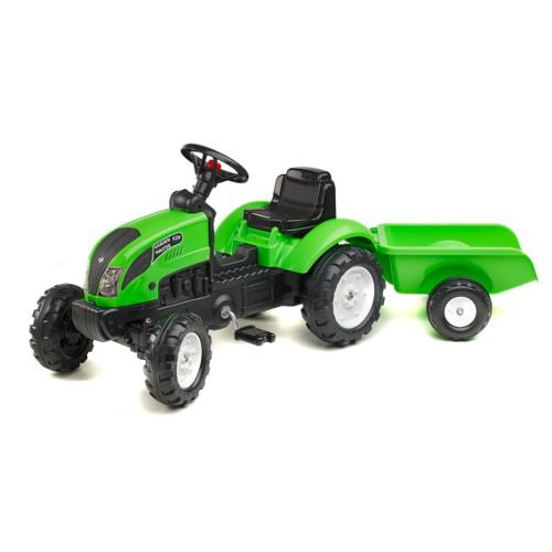 Tractor garden Master cu remorca verde imagine