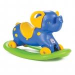 Balansoar elefant 2 in 1 cu roti Blue