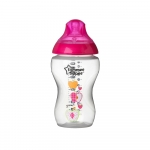 Biberon decorat 340 ml fete mar roz Tommee Tippee