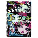 Caiet cu spira A4 80 de file Monster High