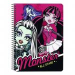 Caiet cu spira A5 80 de file colectia Monster High All Stars
