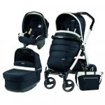 Carucior 3 In 1 Peg Perego Book Plus S Black&White POP-UP Elite Luxe Blue