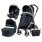 Carucior 3 in 1 Peg Perego Book Plus 51 S Black Pop-Up Elite Luxe Blue