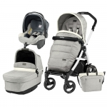 Carucior 3 in 1 Peg Perego Book Plus 51 S Black&White Pop-Up Elite Luxe Opal