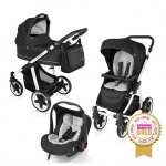 Carucior multifunctional 3 in 1 Baby Design Lupo Comfort Black 2016