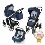 Carucior multifunctional 3 in 1 Baby Design Lupo Comfort Navy 2016