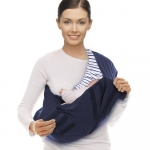 Marsupiu Sling Cotton STRIPE True blue Wallaboo