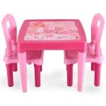 Masuta cu doua scaunele Study Table Pink