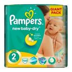 Pampers nr. 2 (3-6kg) Giant Pack 100 buc