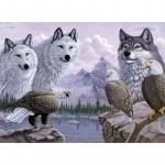 Pictura creativa pe numere avansati lupi