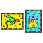Primele mele minipicturi pe numere dragon & castel
