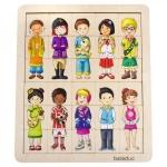Puzzle amesteca si potriveste copiii lumii