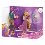 Set Rapunzel si Flynn Rider cu medalion