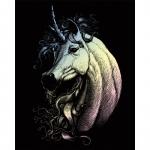 Set gravura pe folie holografica unicorn