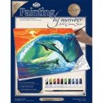 Set pictura pe panza delfini