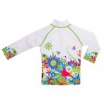 Tricou de baie Flowers marimea 110-116 protectie UV Swimpy