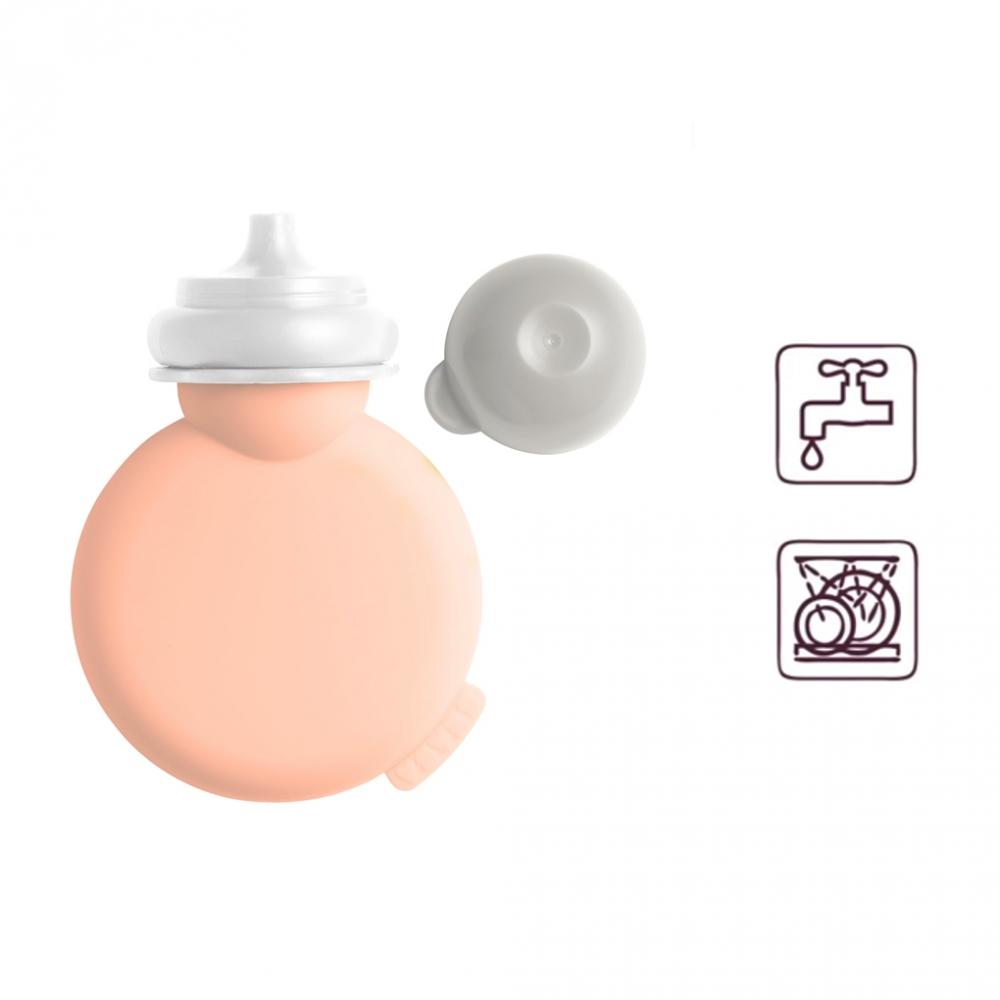 Babypote recipient piure din silicon Nude