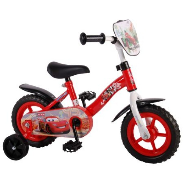 Bicicleta copii Volare Cars cu roti ajutatoare 10 inch
