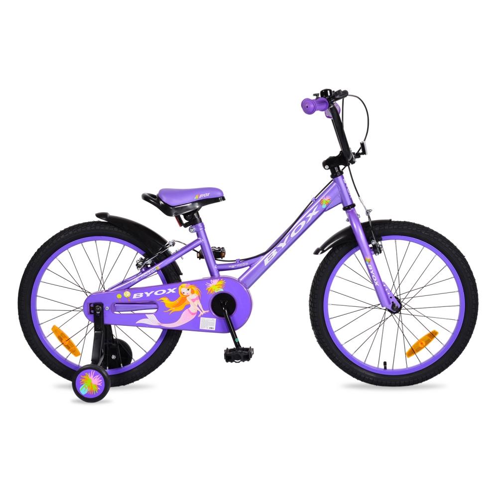 Bicicleta pentru fetite cu roti ajutatoare Byox Mermaid 20 inch din categoria La Plimbare de la Byox