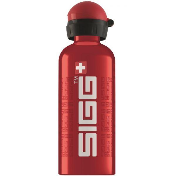 Bidon Sigg din aluminiu Siggnature red 0.6L