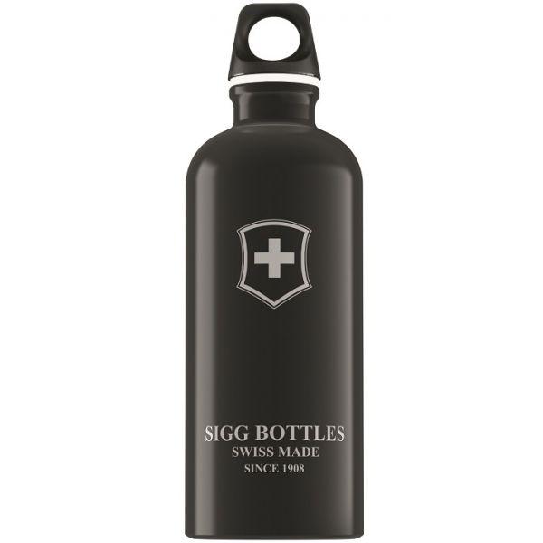 Bidon Sigg din aluminiu Swiss Emblem black 0,6L imagine