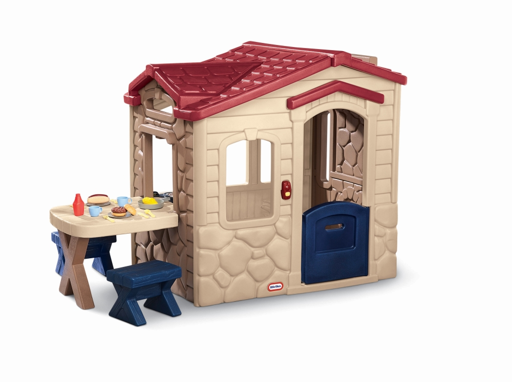 Casuta picnic cu terasa maro imagine