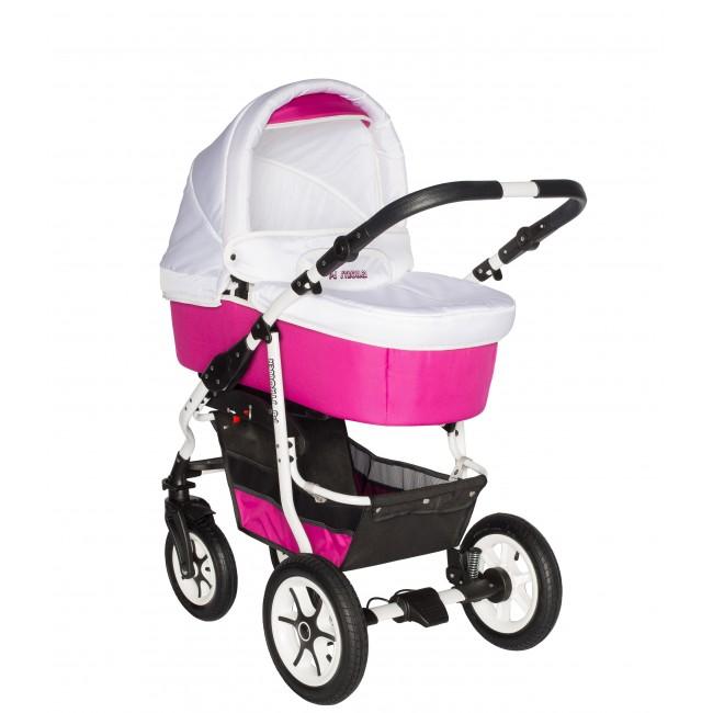 Carucior bebelusi 3in1 Pj Stroller Comfort White Pink