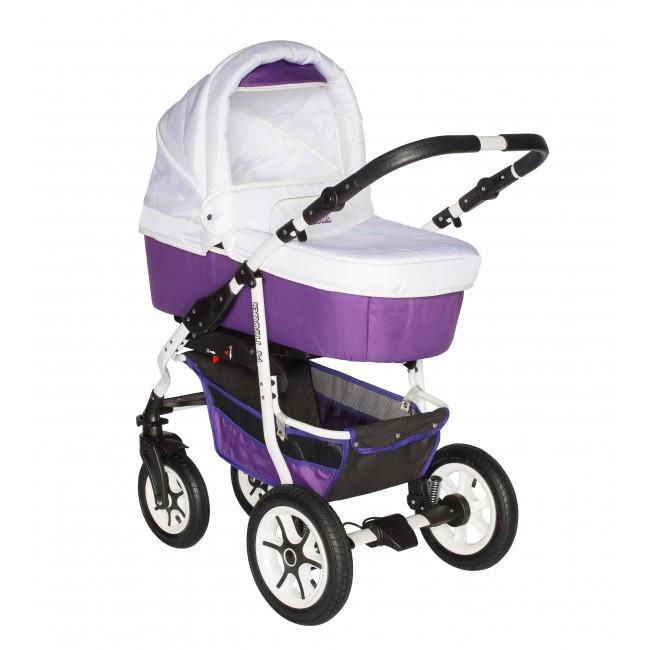 Carucior bebelusi 3in1 Pj Stroller Comfort White Purple