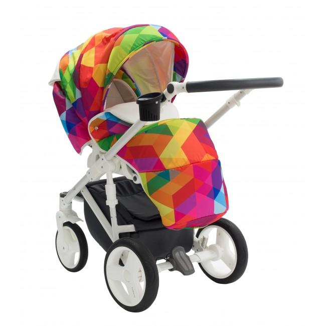 Carucior Copii 3 In 1 Bexa Cube Amo Rainbow