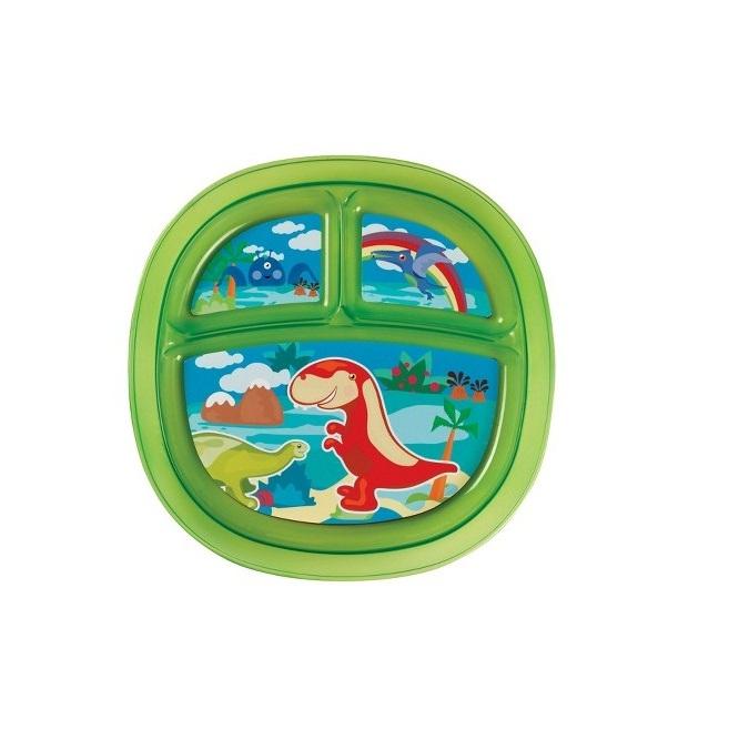 Farfurie Decorata Compartimentata Munchkin Verde