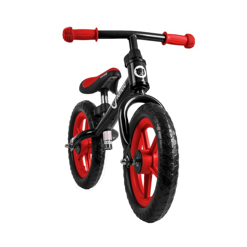 Bicicleta fara pedale Fin Plus Black Red