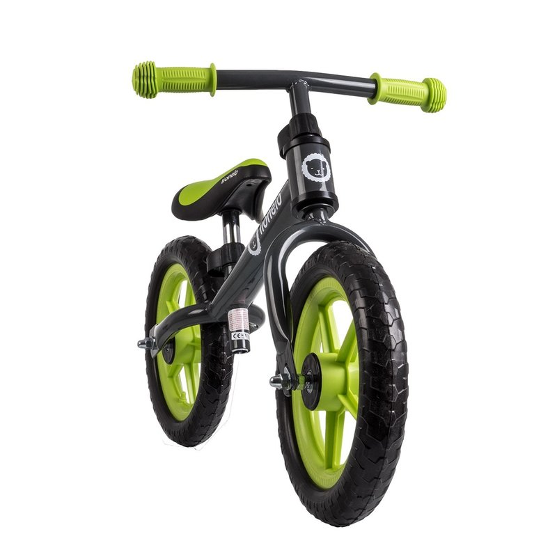 Bicicleta fara pedale Fin Plus Grey Green
