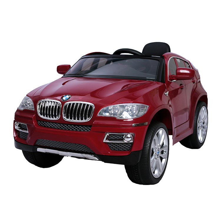 Masinuta electrica cu display electronic si roti din cauciuc BMW X6 Red
