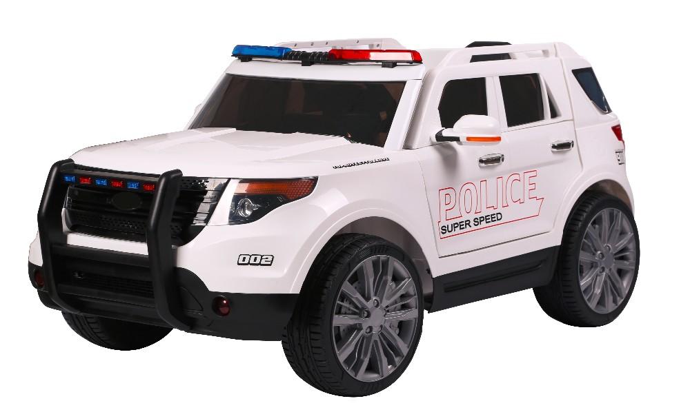 Masinuta electrica cu telecomanda 2.4 Ghz Police White