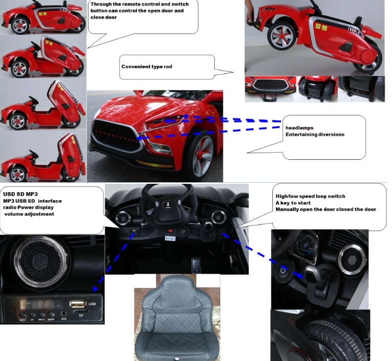 Masinuta electrica cu telecomanda 2.4 Ghz Future Red imagine