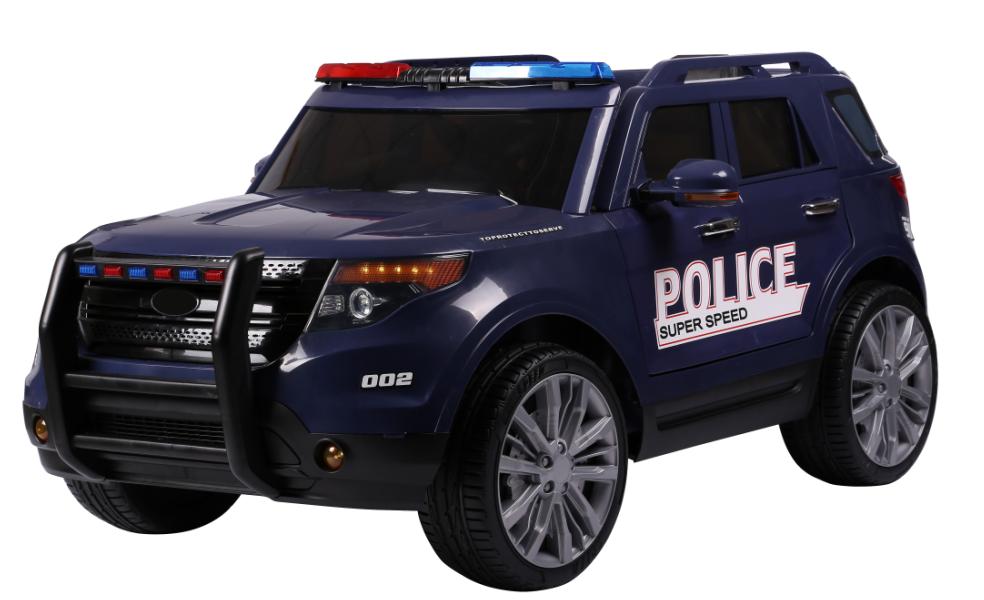 Masinuta Electrica Cu Telecomanda 2.4 Ghz Police Blue