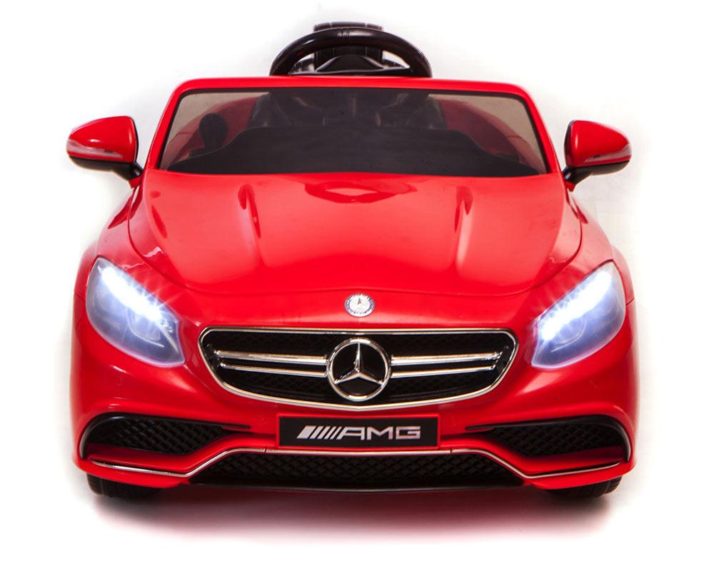 Masinuta electrica cu telecomanda Mercedes Benz S63 AMG Cabrio Red