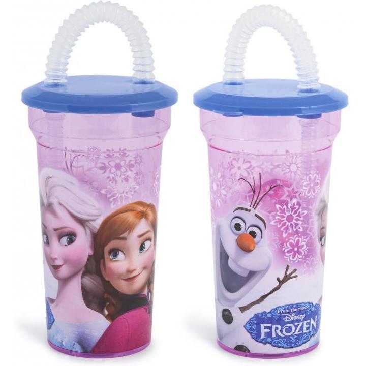 Pahar cu pai Frozen 400ml Lulabi 8006600
