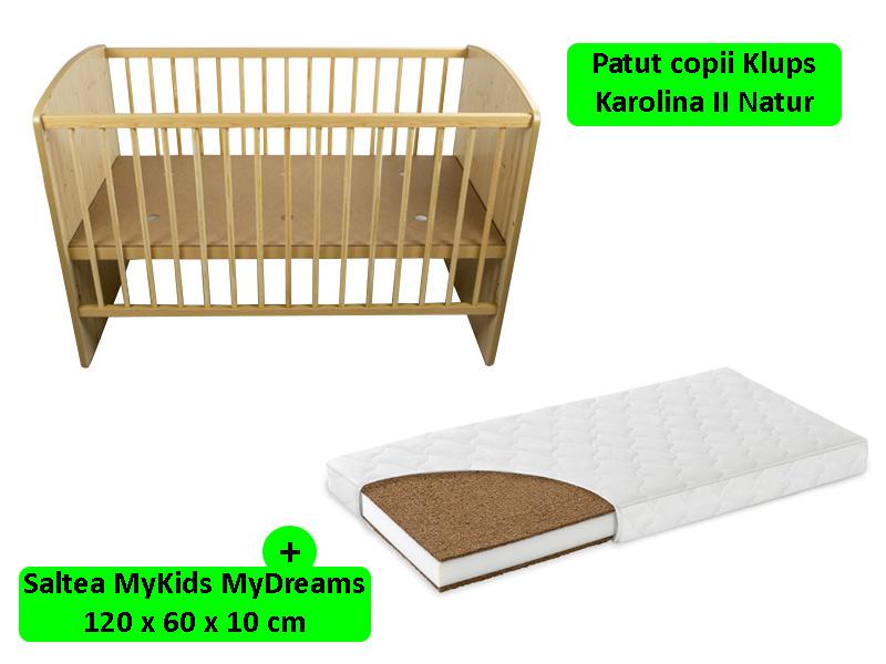 Patut Klups Karolina II Natur + Saltea 10 MyDreams