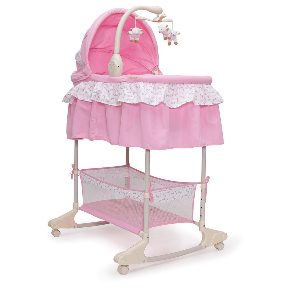 Patut leagan cu vibratii si muzica pentru bebelusi Nap Pink imagine