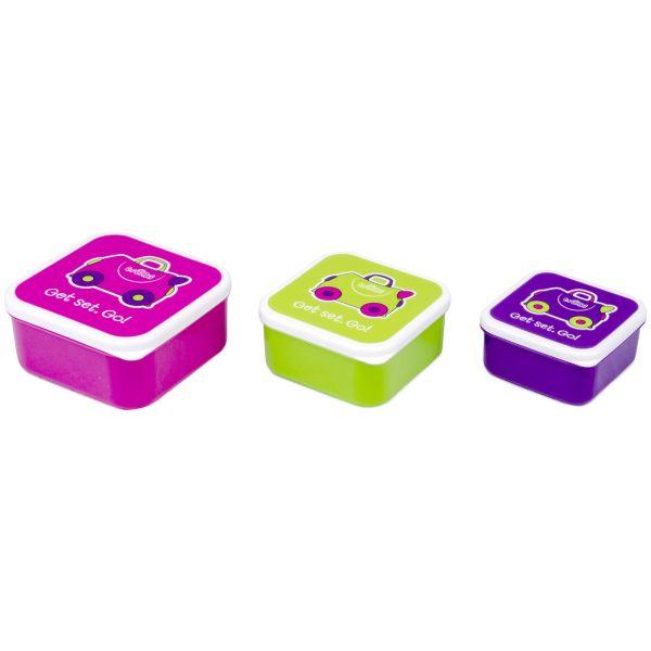 Set cutiute Trunki Snack Pots pink