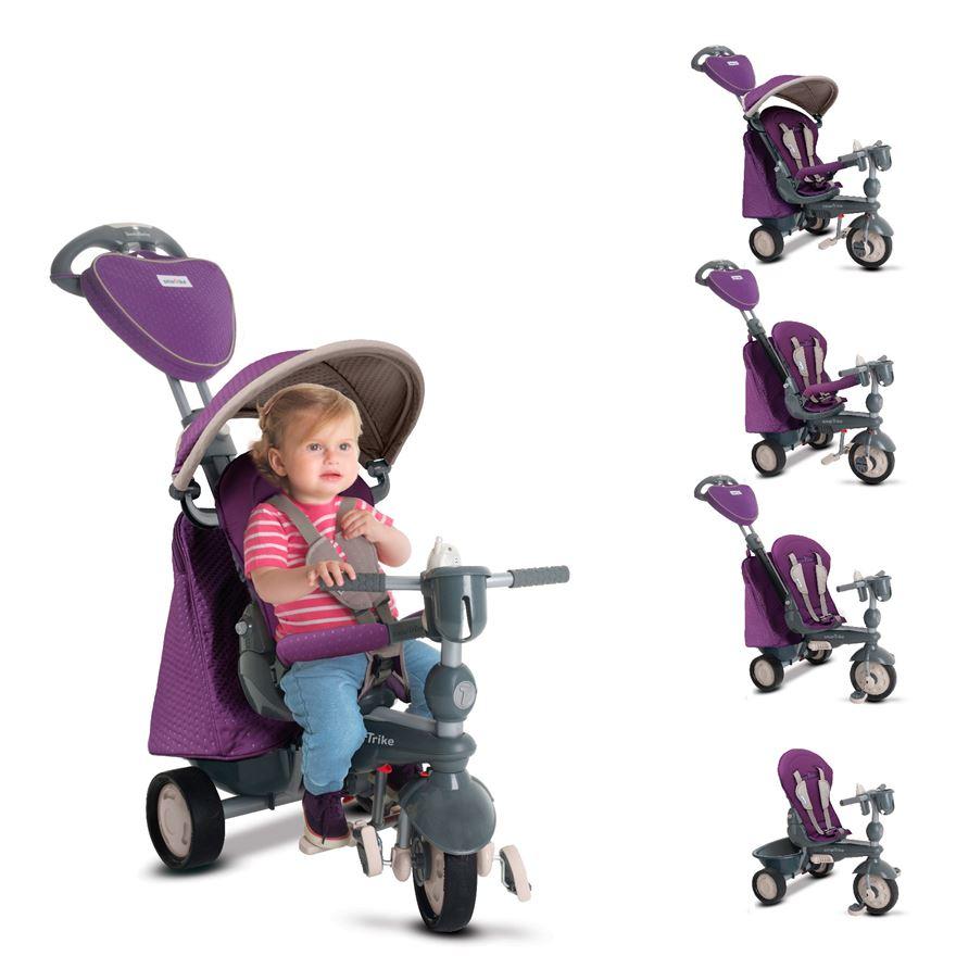 Tricicleta 5 in 1 Smart Trike Recliner Infinity Purple
