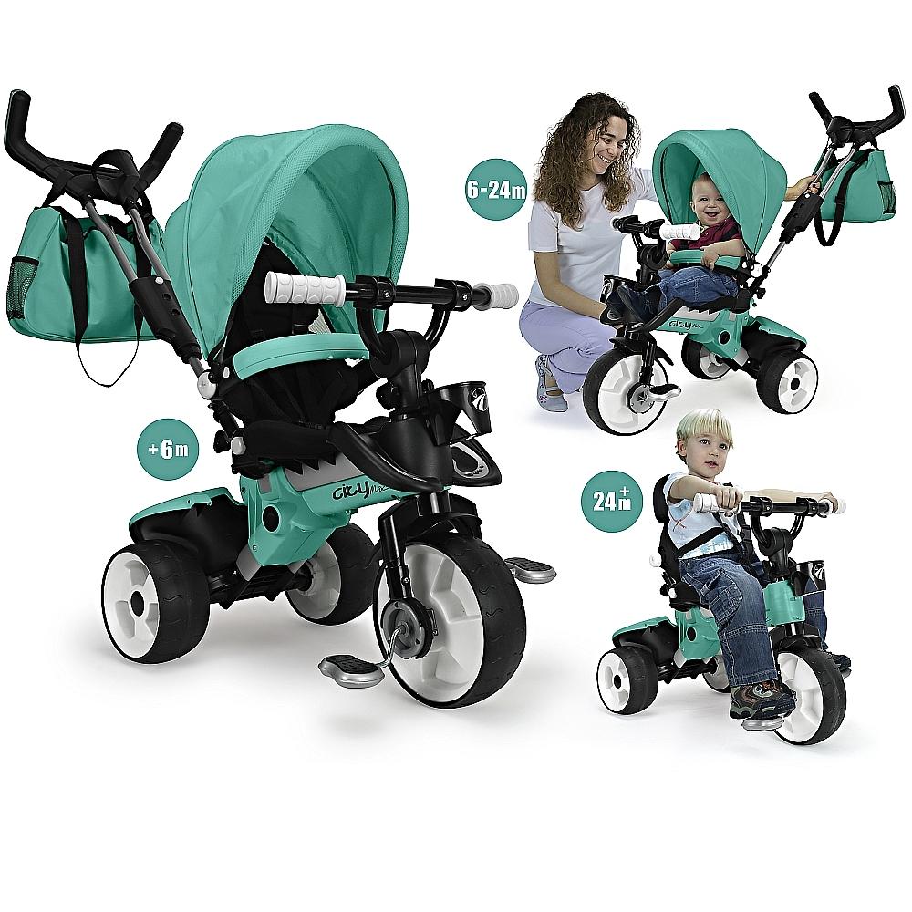 Tricicleta pentru copii Injusa City Max Mint