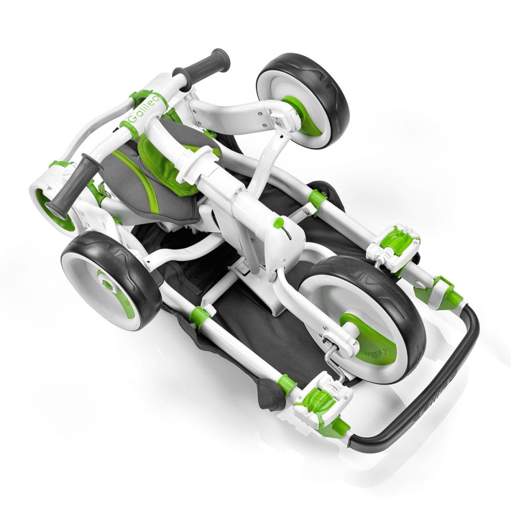 Tricicleta pliabila Galileo Verde