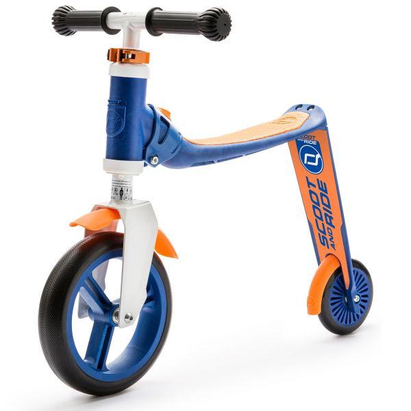 Trotineta copii transformabila 2 in 1 Scoot Ride Highwaybaby+ albastruportocaliu