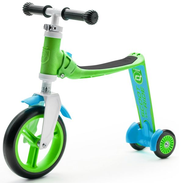 Trotineta 2 in 1 Scoot Ride HighwayBaby 1-4 ani Green Blue