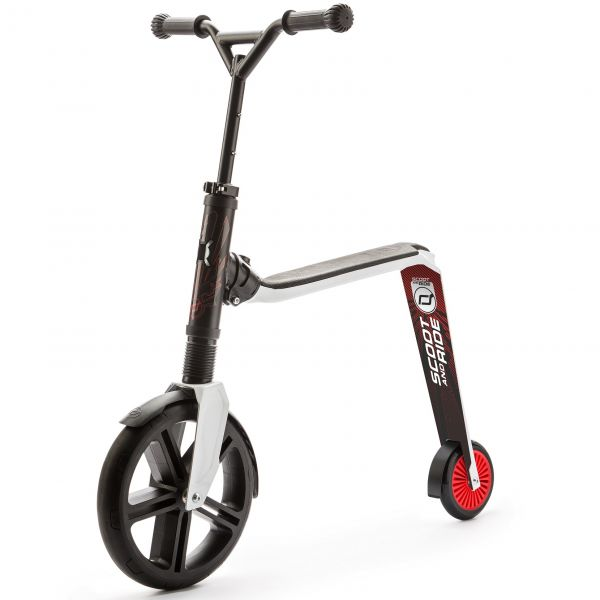 Trotineta 2 in 1 Scoot Ride HighwayGangster 5+ ani Black White Red