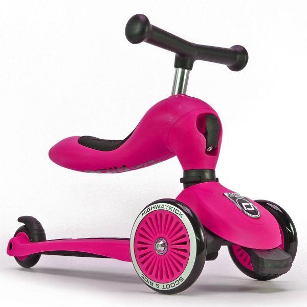 Trotineta 2 in 1 Scoot Ride HighwayKick 1 Pink 1-5 ani