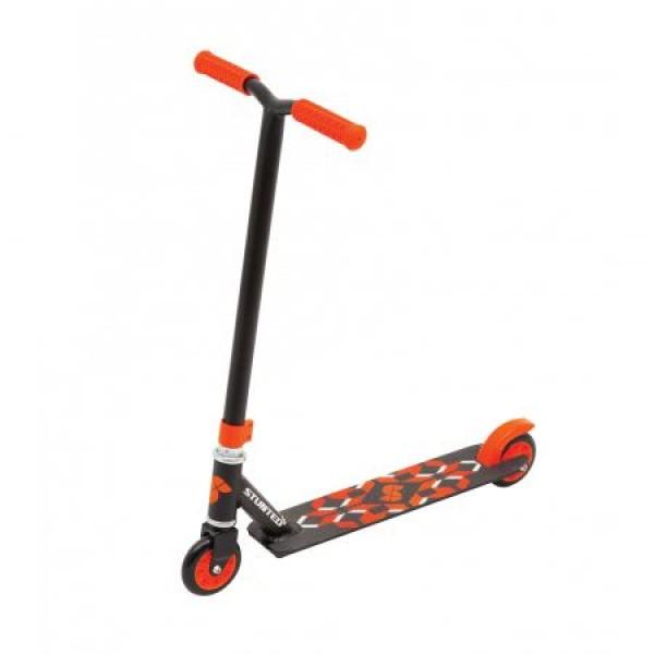 Trotineta Stunt Freestyle X sarituri cascadorii si skatepark incepatori portocalie